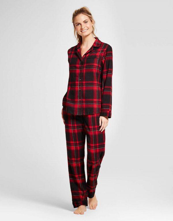 Women's 2pc Pajama Set - Red Velvet