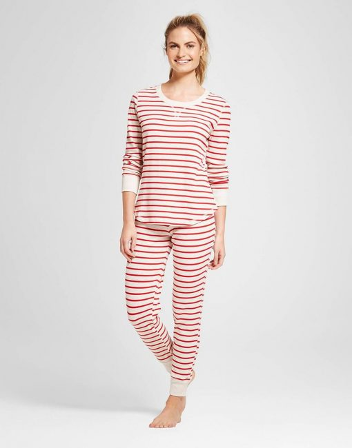 Women's 2pc Pajama Set - Oatmeal Heather