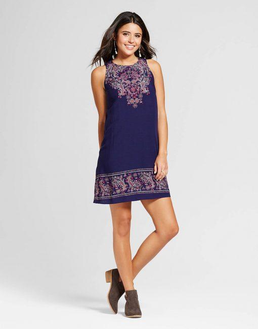 Women's Placed Print Shift Dress
