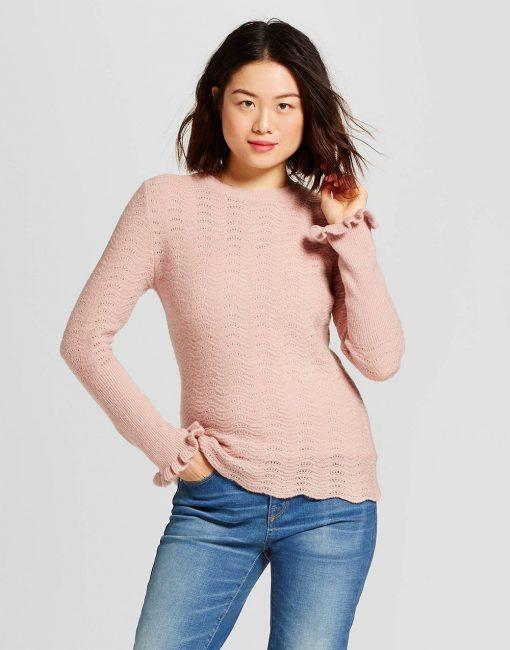 Women's Pointelle Pullover