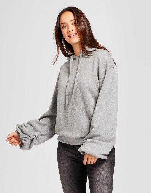 Women's Ruched Sleeve Hoodie