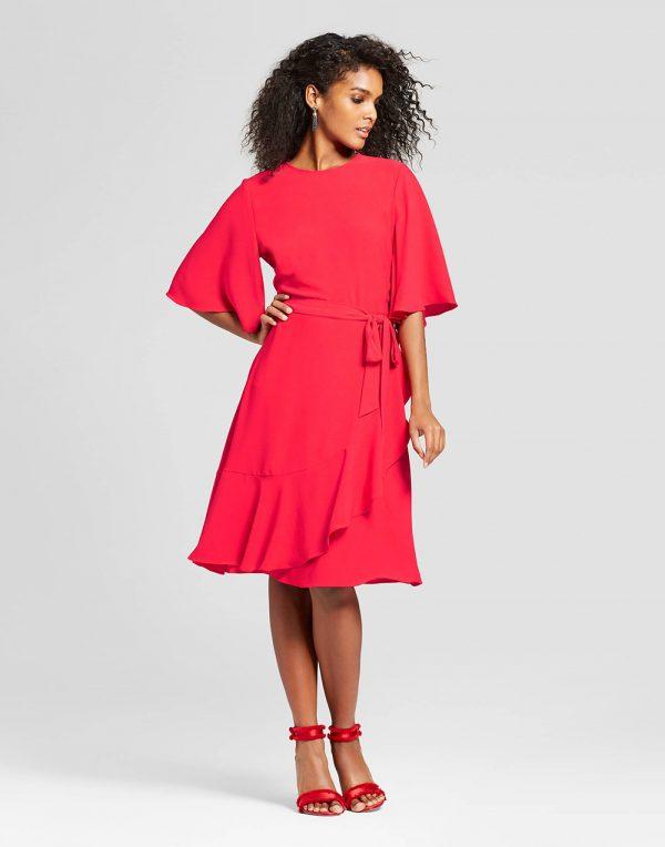 Women's Ruffle Wrap Dress