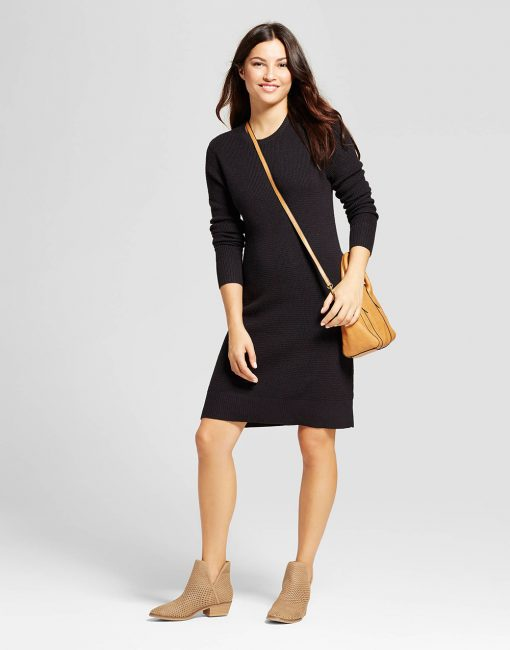 Women's Textured Sweater Dress