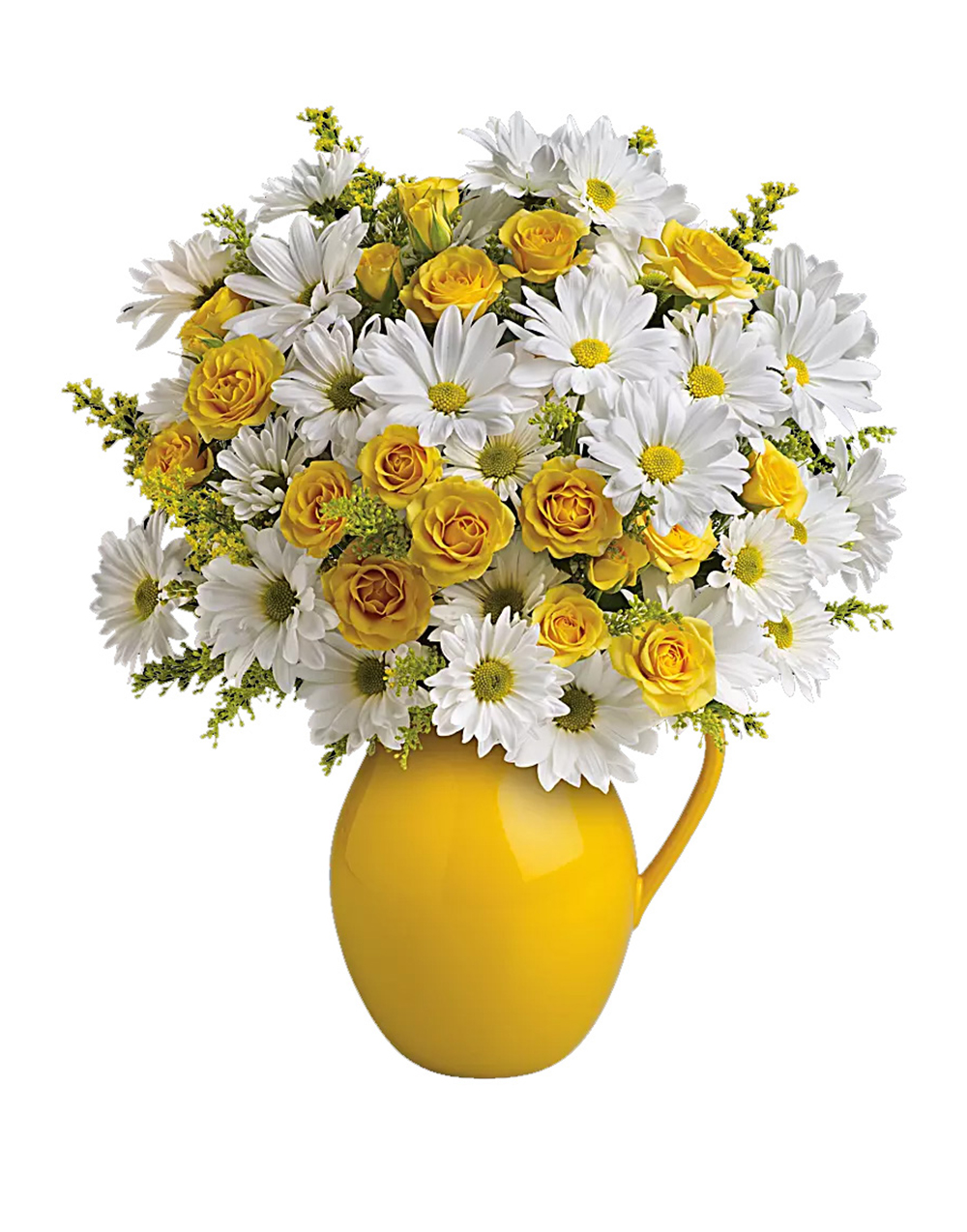 Telefloras Sunny Day Pitcher Of Daisies Flowers