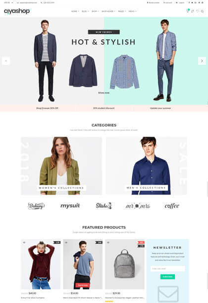 Modern responsive ecommerce wordpress theme