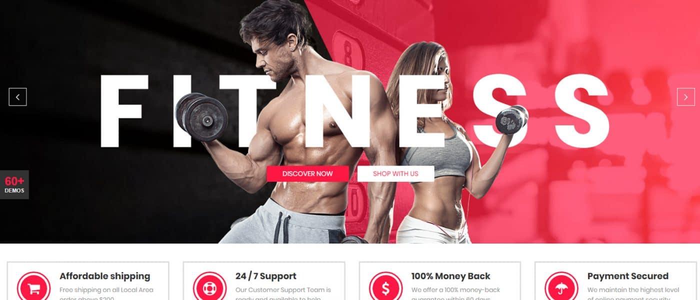 Wordpress theme for Fitness & Gym