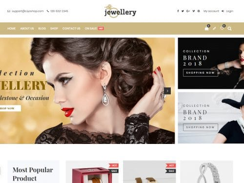 Download Best Jewellery WordPress Themes in 2019